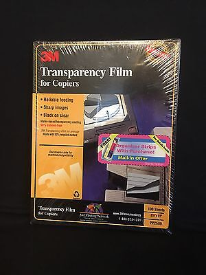 3M Transparency Film for Plain Paper Copiers PP2500 - 100 Sheets NIB Sealed