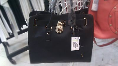 Michael Kors Studio Hamilton Large Leather Satchel