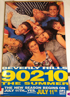 Beverly Hills 90210 promotional Poster1991 Fox Broadcasting excellent 25x 38 1/2