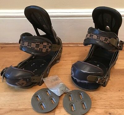 Burton Cartel snowboard bindings (Medium)