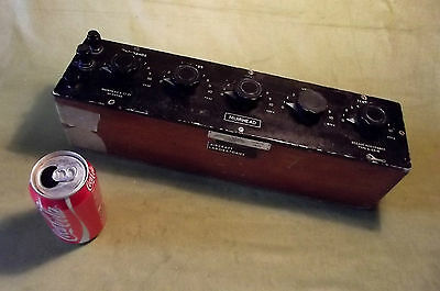 Decade Resistance Box, Dial Type, 11111 Ohms, (Physics) Vintage, Aircraft Lab!