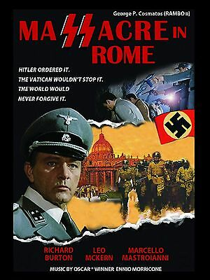 "Massacre in Rome 16"" x 12"" Reproduction Movie Poster Photograph"