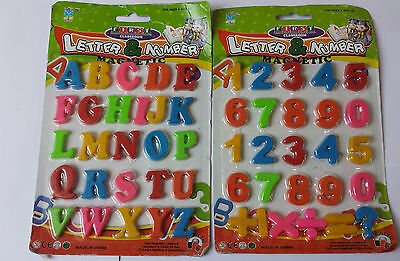 Mini Fridge Magnets Assorted ABC Magnetic Alphabet Letters Maths Numbers Signs