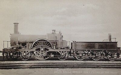 Lord of the Isles GWR broad gauge engine postcard