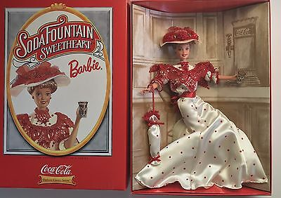 Coca-Cola Soda Fountain Sweetheart BARBIE 1ST in Series 1996 COA #15762 NIB NRFB