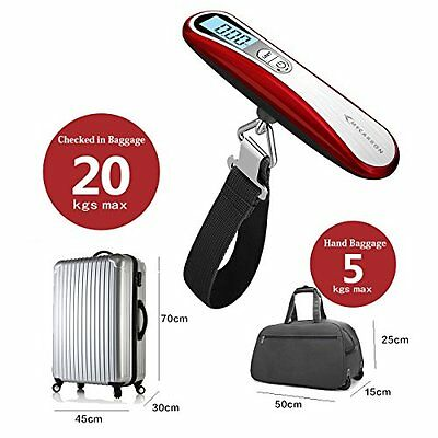Digital Luggage Scale Portable Weight 110lb Backlit Travel Scales Easy Carry US