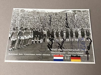 World Cup Winner 1974 Germany In-person complete signed  photo 4 x 6 Football