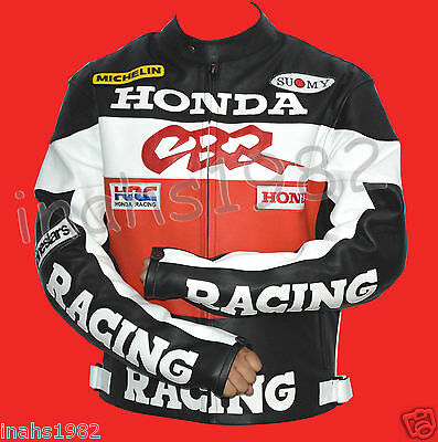 Honda CBR RED Racing Leather Jacket ( Cowhide Leather )