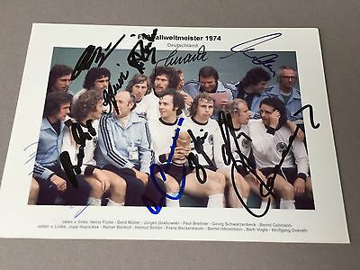 World Cup Winner 1974 Germany In-person  signed  photo 4 x 6 Football