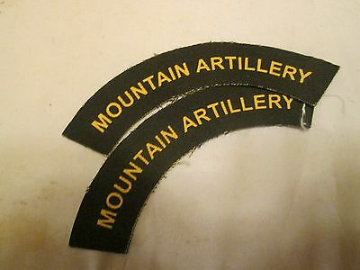 New Pair Army Battledress Flashes Mounting Artillery