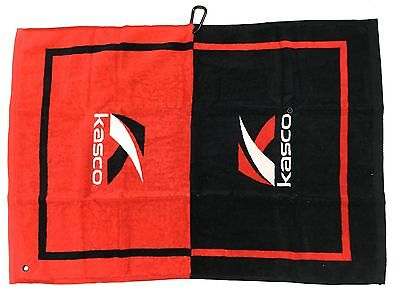 """Kasco Golf Tour Cart Towel With Carabiner Clip 28"""" X 19"""" LARGE - RRP£20"""