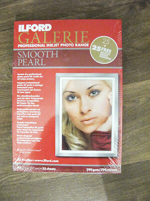 Ilford Galerie Smooth Pearl A4 Inkjet Photo Paper - 290gsm - 50 sheets