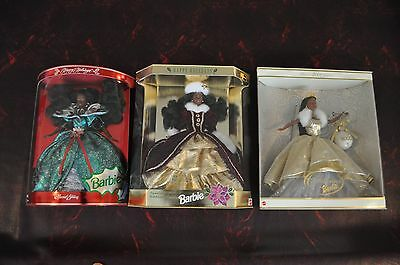 Holiday Barbie Lot of 3 - 1995, 1996 & 2000