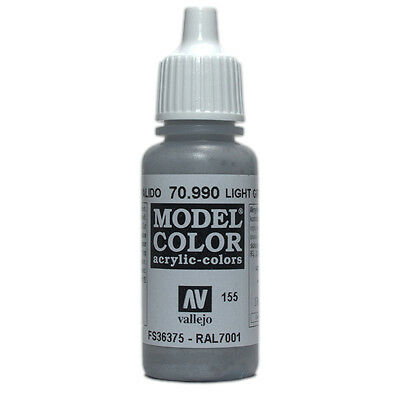 Vallejo Model Color: Light Grey - VAL70990 Acrylic Paint Bottle 17ml 155