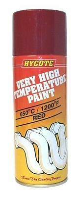 Hycote Red VHT Very High Temperature 400ml Aerosol Spray Paint Up to 650C 1200F