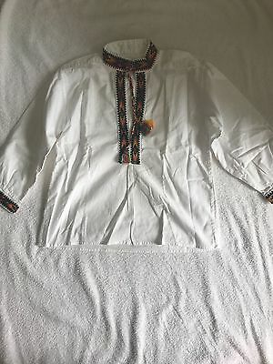Ukrainian embroidery on boy shirt made in Ukraine size 5-6