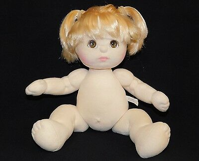"My Child Blonde Brown Eyed Baby Girl Doll 14"" Vintage Mattel 1985 Taiwan NUDE"