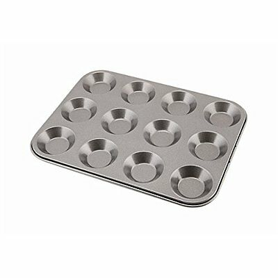 Genware NEV-BT-CS12 Carbon Steel Non-Stick Bun Tray with 12 Cups