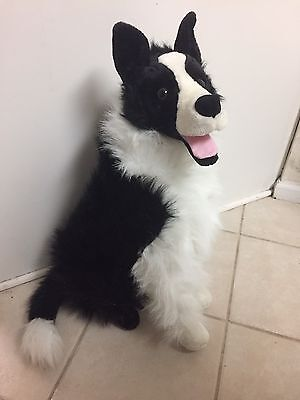 Pre Owned Melissa And Doug Life Like Giant Border Collie Cuddle Dog
