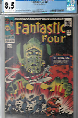 FANTASTIC FOUR #49 (Apr 1966) CGC 8.5 OWWP * 1st Silver Surfer & Galactus Cover*
