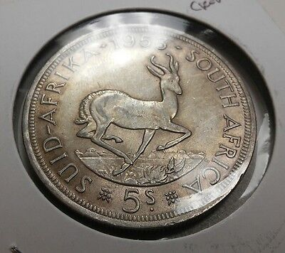 South Africa 5 Shillings silver 1953