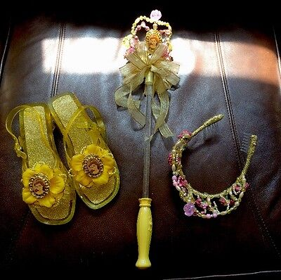Disney's Beauty And The Beast Costume Accessories Shoes, Crown And Wand
