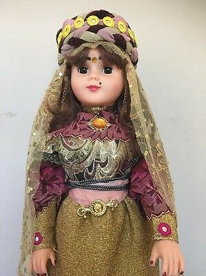 Large 32 inches rare collector Persian  Doll