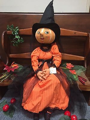 Joe Spencer Gathered Traditions  Isadora Pumpkin Witch (FGS70899)