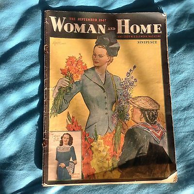 Vintage September 1947 Woman & Home & Good Needlework Magazine. Wonderful Ads