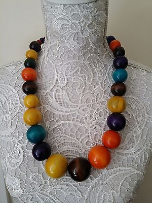 Ethnic tribal African Kenyan Masai jewelry bead necklace