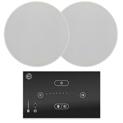 """Systemline E50 In Wall Bluetooth Music System with 6.5"""" Ceiling Speakers QI65CB"""