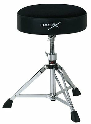 Basix F805160 Sgabello per Batteria, Drum Throne, Tondo (h5M)