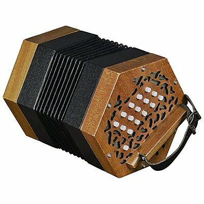Trinity College AP-123030-button anglo-style Concertina, colore: noce (G8d)