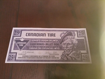 Canadian Tire 25 Cent  Mixmatch Serial Number Error