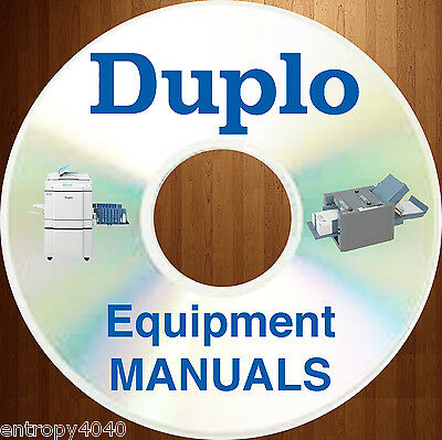 Duplo Equipment Service Repair Manuals Parts Catalog User Guide Maintenance CD