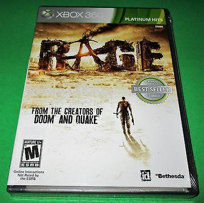 Rage Microsoft Xbox 360 *Factory Sealed! *Free Shipping!