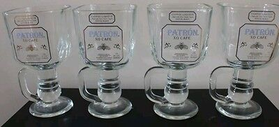 Glassware Bar Patron Tequila Set of 4, Collectable Barware