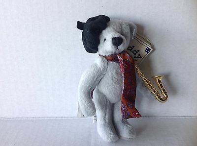 Ganz Teddy Tales 1994 Dizzy miniature bear with Saxophone and tag
