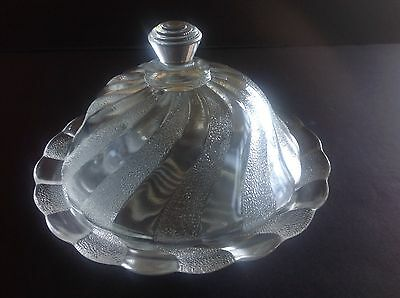 Depression Dominion Glass Canadian Swirl Covered Butter Dish