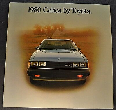 1980 Toyota Celica Catalog Sales Brochure GT ST Excellent Original 80