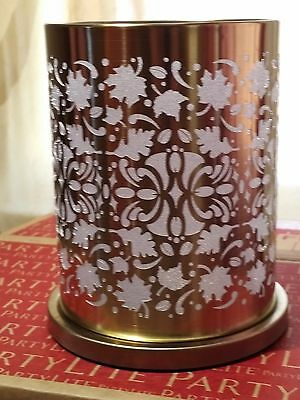 Partylite Enchanted Golden Leaves Votive Hurricane - P92594 - New