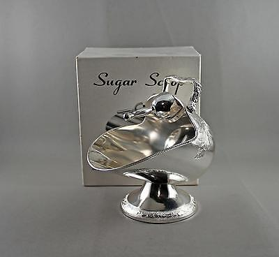 VTG Rogers Silver Silverplate Sugar Scuttle & Scoop in Box Tarnish Resistant