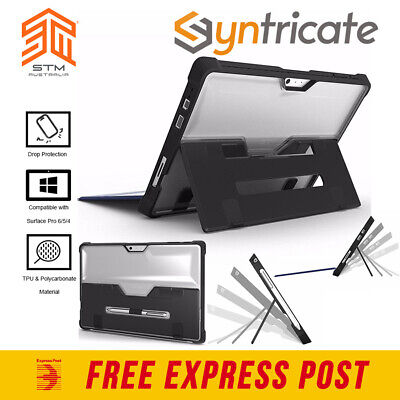 STM Dux Rugged MILITARY STD Case Cover For Microsoft Surface PRO 6 Pro 5 -BLACK