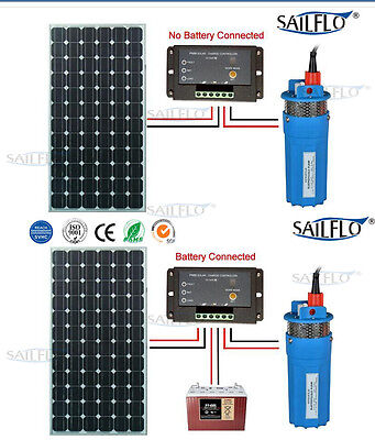 Farm & Ranch Solar Powered Submersible DC Water Well Pump 24V 230FT+ Lift