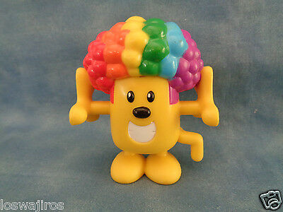 """2007 Mattel Wow Wow Wubbzy Heavy PVC Stack-able Action Figure 3"""" Rainbow Hair"""
