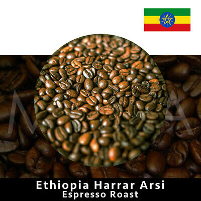 ETHIOPIA 'Harrar' Fair-Trade Espresso Coffee Beans 1 Kg
