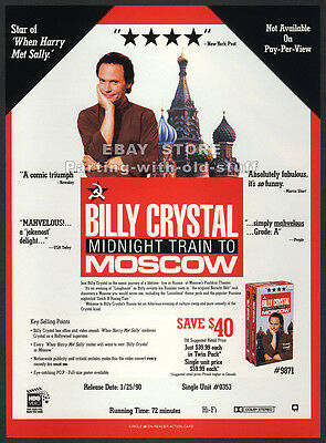 BILLY CRYSTAL__Original 1989 Trade Print AD / promo__Midnight Train To Moscow
