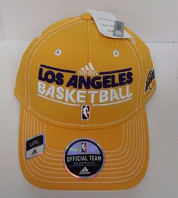 NEW!! Adidas Los Angeles Lakers Basketball Hat Official Team Headwear Size:L/XL