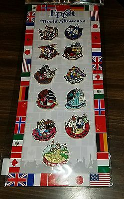 Disney Pins Authentic Epcot World Showcase Pavilion 11 Pin Set NEW  **SALE**