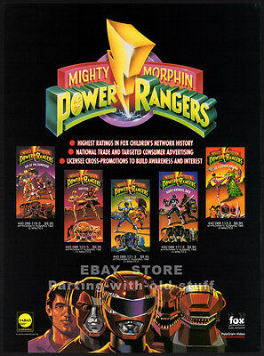 Mighty Morphin POWER RANGERS__Orig. 1994 Industry Only Trade AD promo__TV series